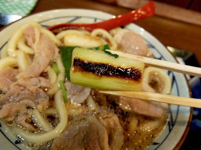 丸亀製麺 鴨ねぎうどん ねぎ