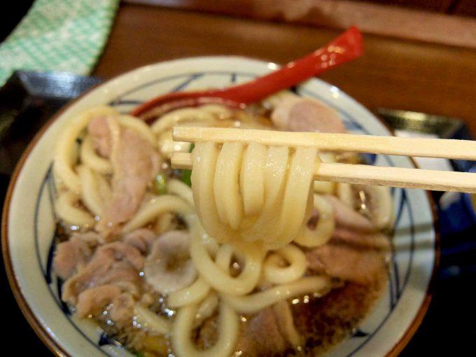 丸亀製麺 鴨ねぎうどん うどん2
