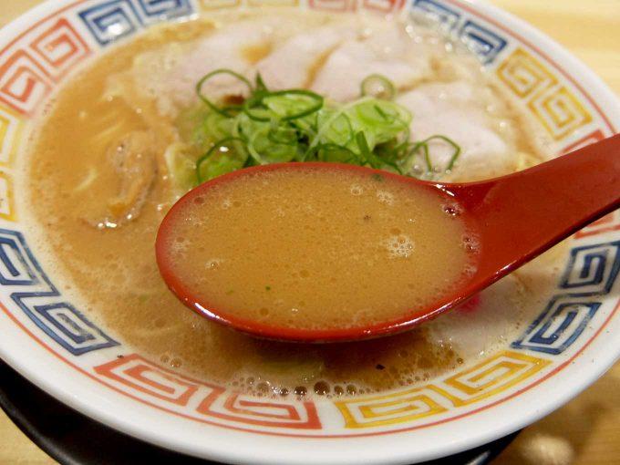 麺や 清流「鶏白湯 醤油 スープ」in 大阪 東大阪市 長瀬