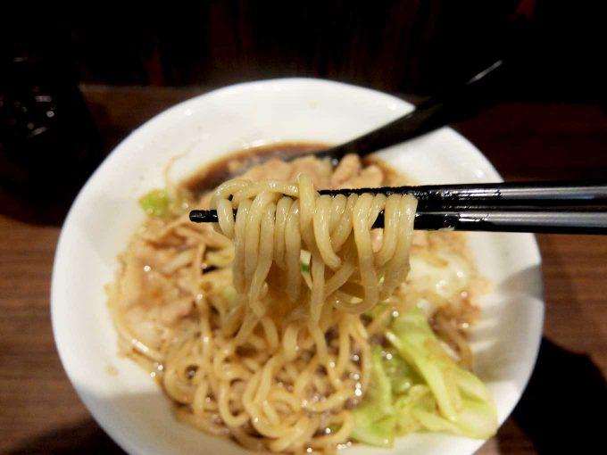 麺屋わっしょい「男の根性黒醤油 麺」in 大阪 寺田町