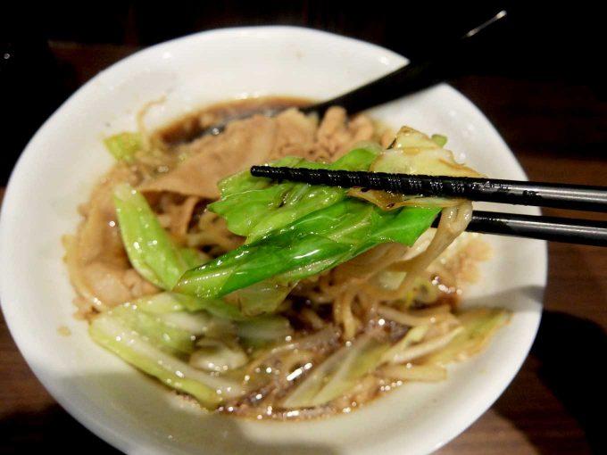 麺屋わっしょい「男の根性黒醤油 野菜」in 大阪 寺田町