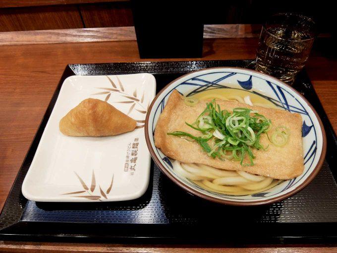 丸亀製麺 大阪第4ビル店 「きつねうどん いなり」in 大阪 梅田