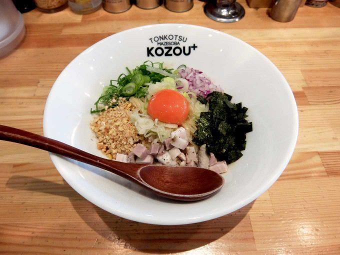 豚骨まぜそば KOZOU+「PLUSまぜそば」in 大阪 福島