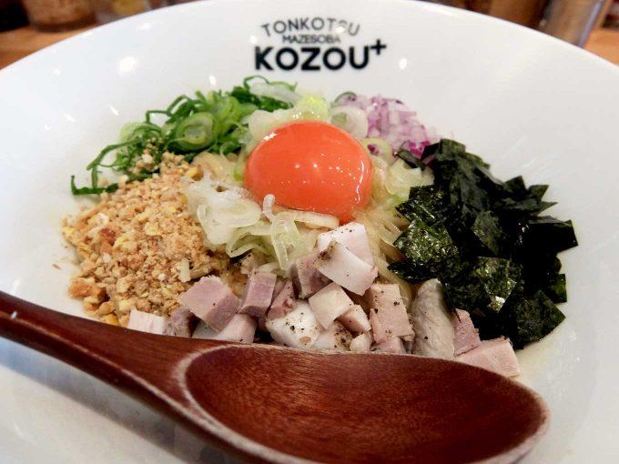 豚骨まぜそば KOZOU+「PLUSまぜそば アップ」in 大阪 福島