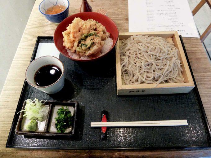 そば打ち 松林「かき揚げ天ぷら 天丼とそば」in 大阪 梅田