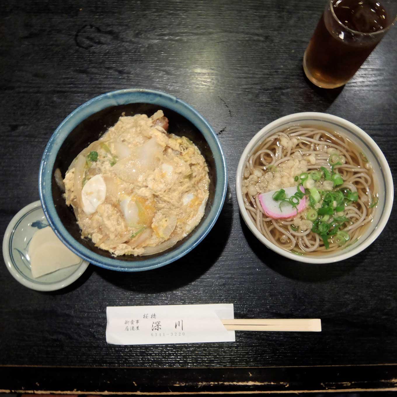 桜橋深川 カツ丼定食 梅田 堂島