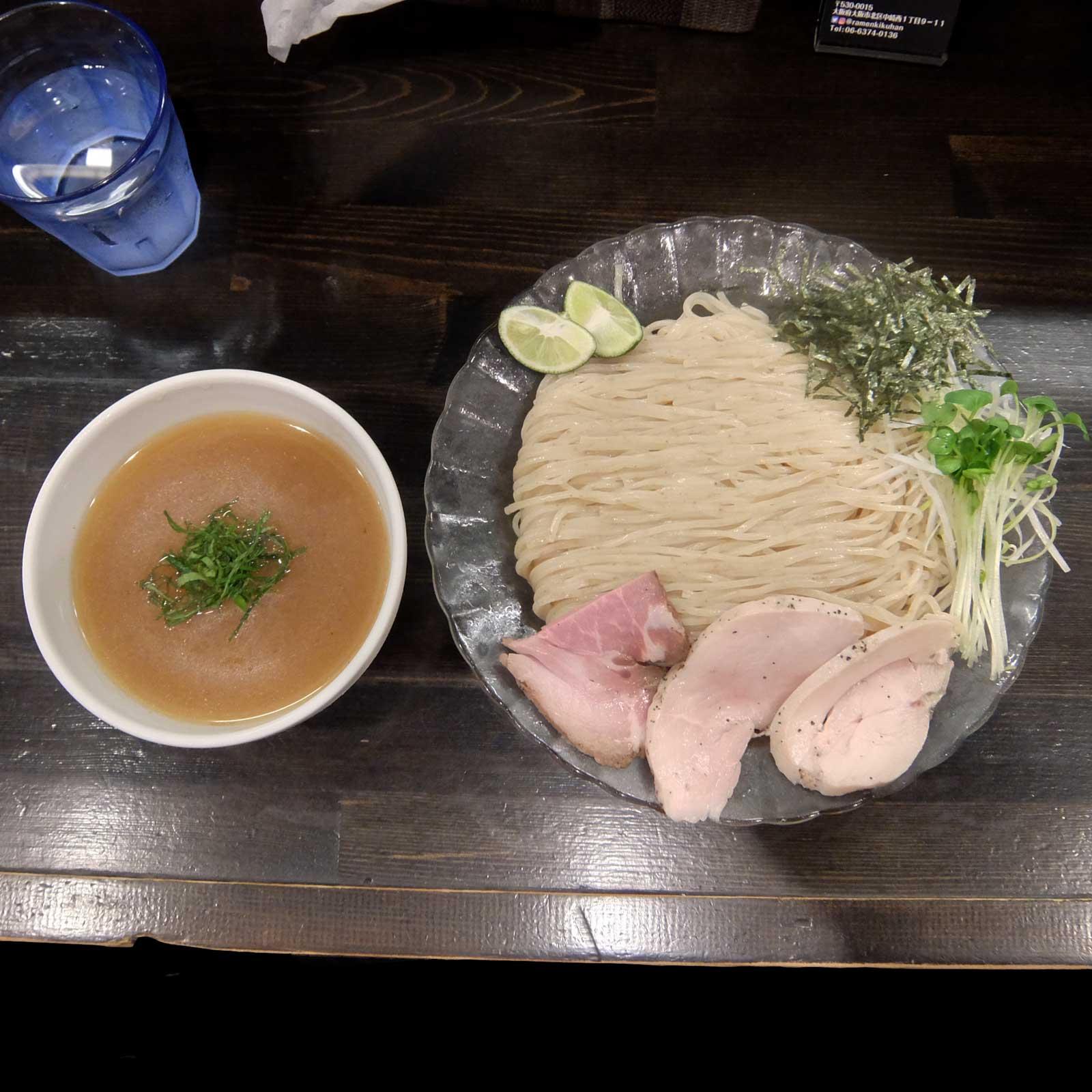 らぁ麺 きくはん 冷やしつけ麺 中崎町 梅田 大阪