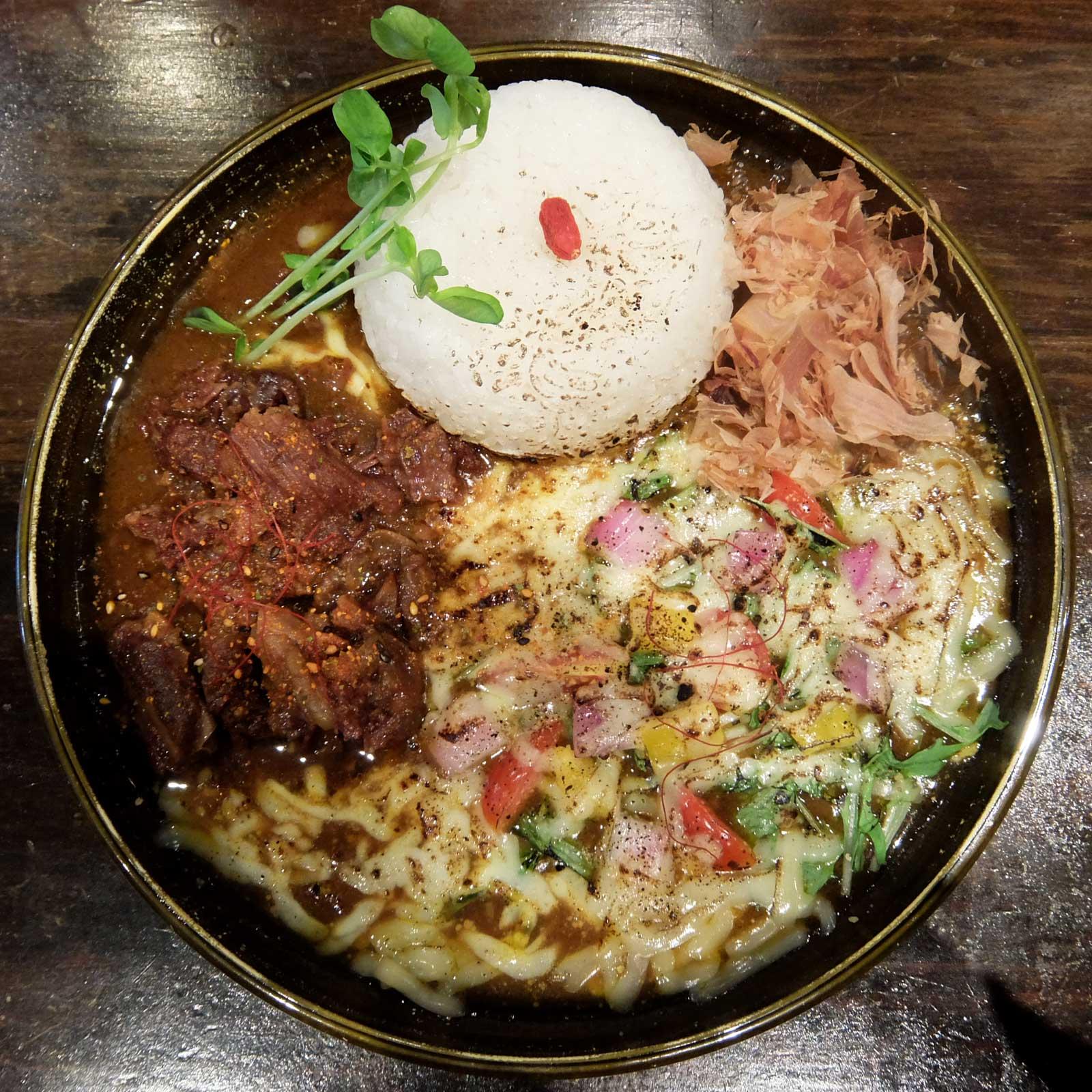 ジパングカリーカフェ 和風カレー ヒゲ ボウズ トロスジ焼きベジチーズ 中崎町 梅田 大阪