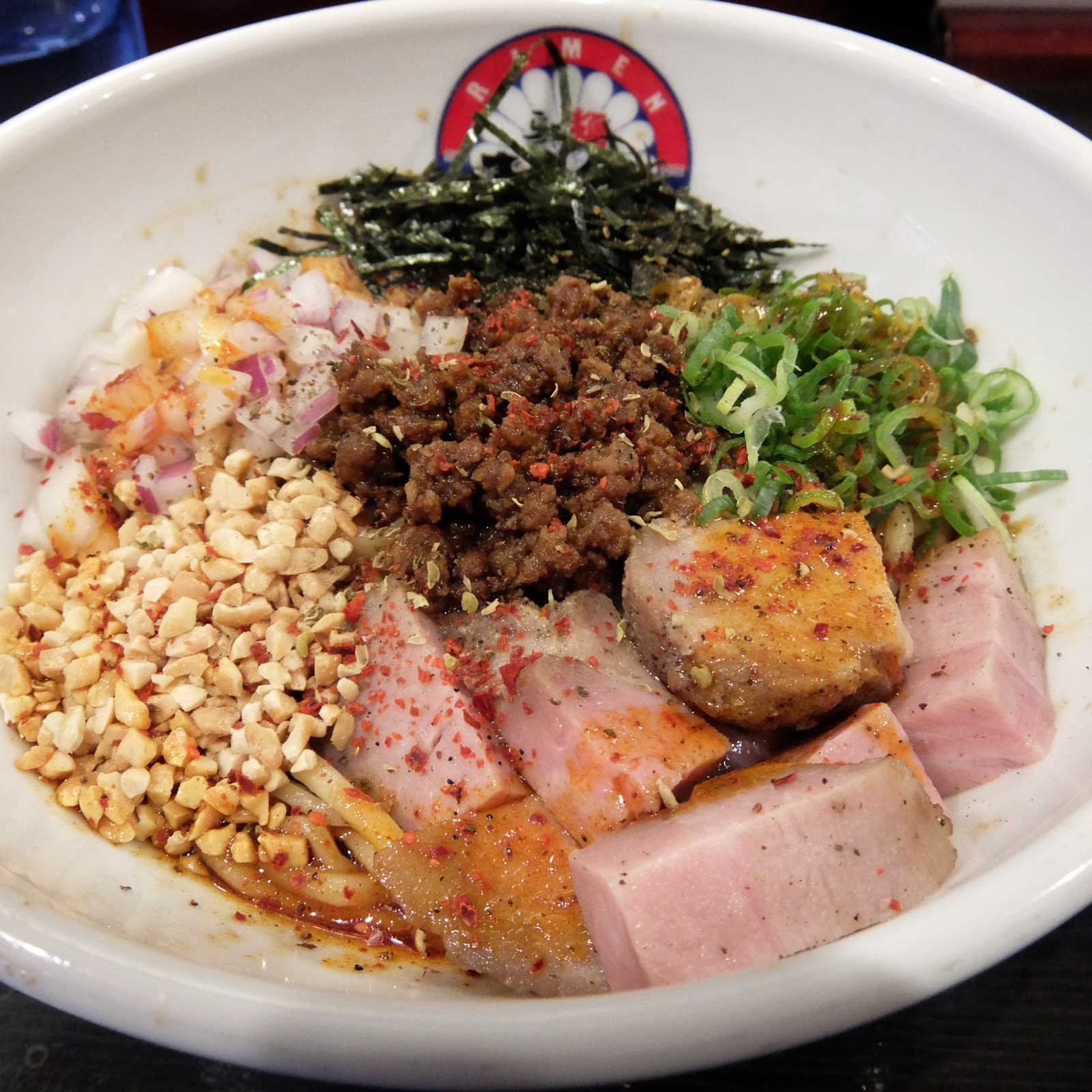 らぁ麺 きくはん シビカラまぜそば in 大阪 梅田 中崎町