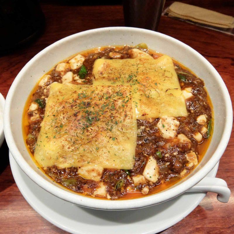 「焼きチーズ麻婆麺@シビレヌードルズ 蝋燭屋」in 茶屋町あるこ 梅田 大阪
