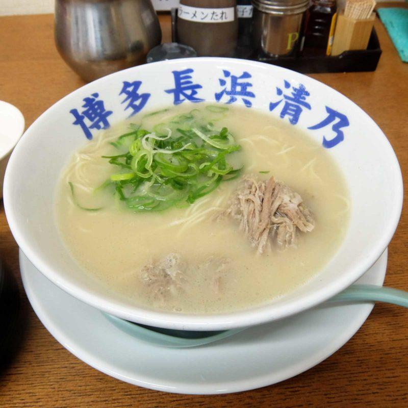 長浜ラーメン「博多 元祖 長浜ラーメン 清乃」in 梅田 大阪