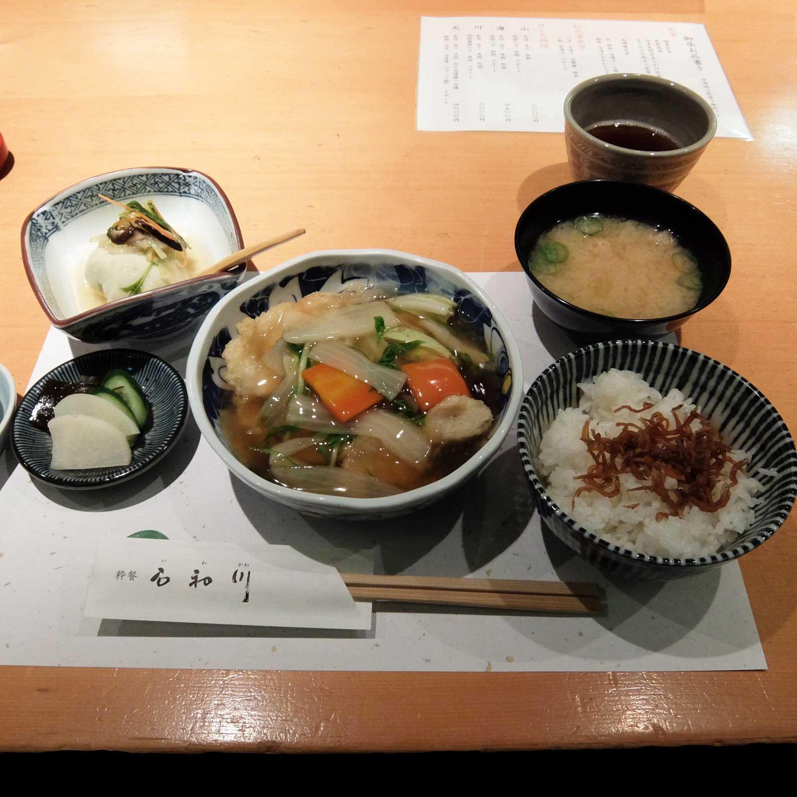 白身魚野菜あんかけ定食「粋餐 石和川」in 北新地 梅田 大阪